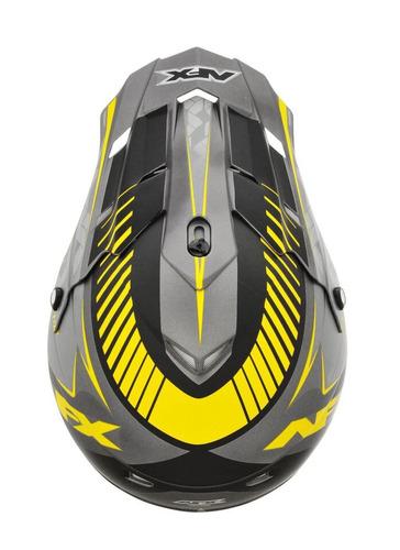 casco todoterreno afx fx-17 factor frost mx amarillo/gris xs