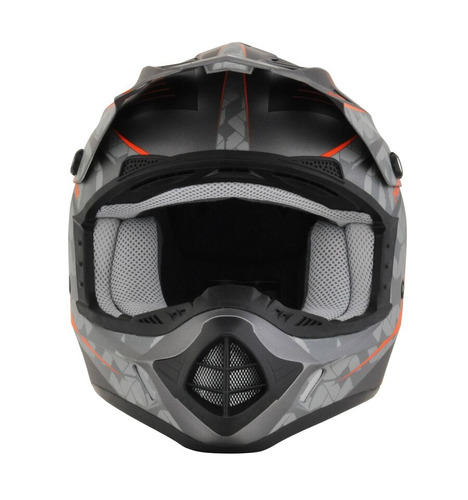casco todoterreno afx fx-17 factor frost mx naranja/gris xs