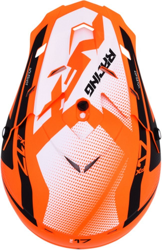 casco todoterreno afx fx-17 holeshot mx naranja neón sm