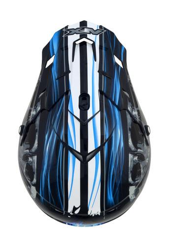 casco todoterreno afx fx-17 inferno negro/azul 2xl