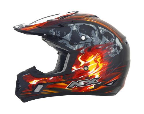 casco todoterreno afx fx-17 inferno negro/rojo md