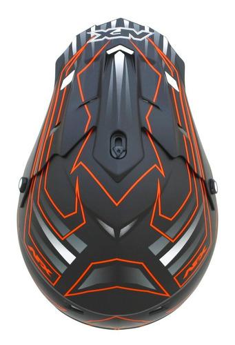 casco todoterreno afx fx-17 mainline mx naranja/negro xs