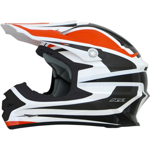 casco todoterreno afx fx-21 alpha naranja/blanco xs