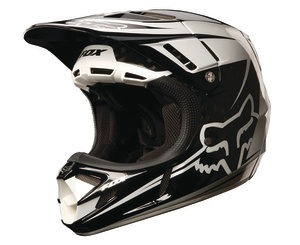 casco todoterreno fox racing v4 flight carbon 2013 negro 2xl