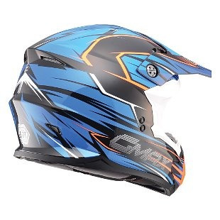casco todoterreno gmax mx86 raz azul/naranja visible lg