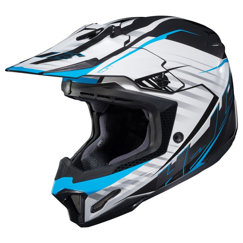 casco todoterreno hjc cl-x7 blaze mx azul/blanco/negro 2xl
