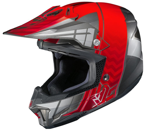 casco todoterreno hjc cl-x7 cross up plateado/xs red/