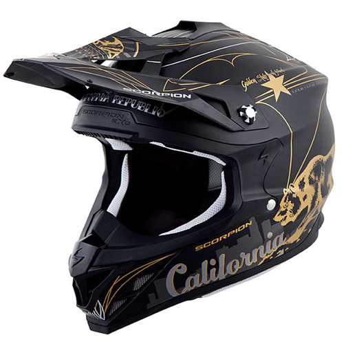 casco todoterreno scorpion vx-35 golden state 2016 neg/gr xs