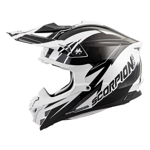 casco todoterreno scorpion vx-35 krush blanco/negro lg