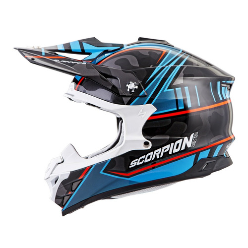 casco todoterreno scorpion vx-35 miramar mx azul/negro 2xl