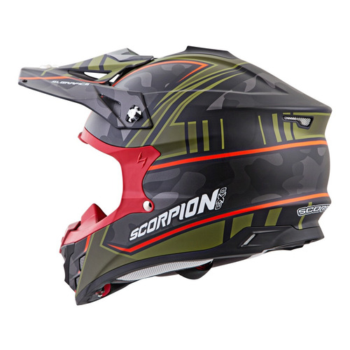 casco todoterreno scorpion vx-35 miramar mx ver/roj/negro s