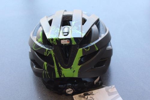 casco uvex i-vo cc negro-verde matte mediano ciclismo nuevo