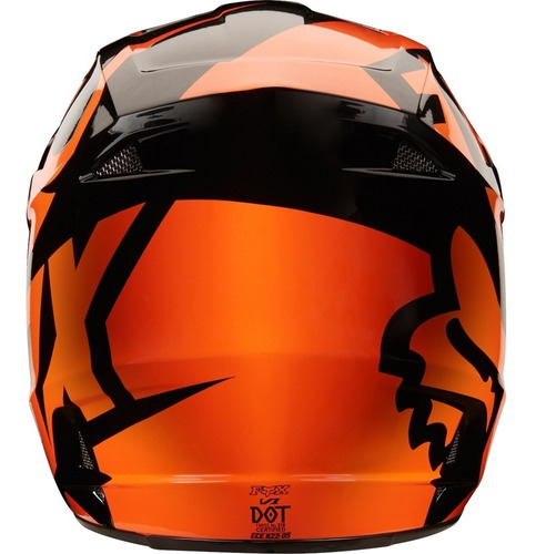 casco v1 *off* race helmet adulto motocross moto naranja fox