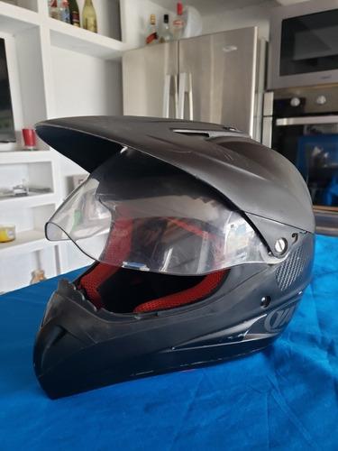 casco vaz motard negro cross enduro visor vicera