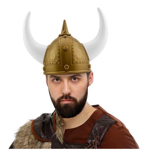casco vikingo cuernos cabina fotografica sombrero animacion