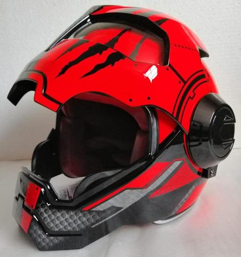 casco x-mask tipo iron man demon tallas m, l, xl rider one