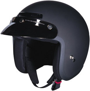 casco z1r jimmy sólido rostro abierto negro/md plana