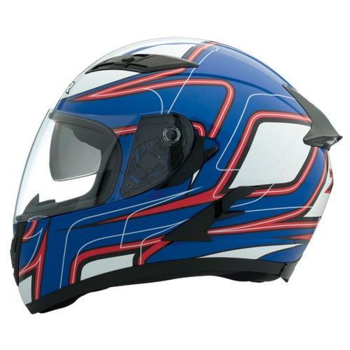 casco z1r strike ops sv rostro completo azul/rojo/blanco sm