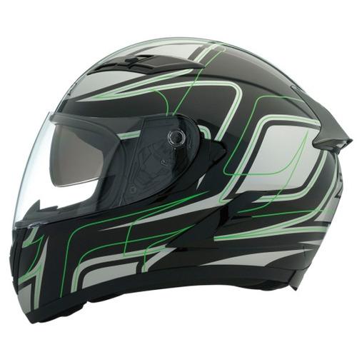 casco z1r strike ops sv rostro completo negro/verde 2xl