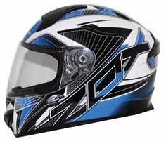 casco zox thunder r2 force rostro completo azul/neg/blanc sm
