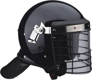 cascos antimotines con visor enrejado (acero)