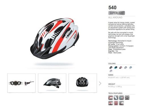 cascos bicicleta limar 540°- black-red