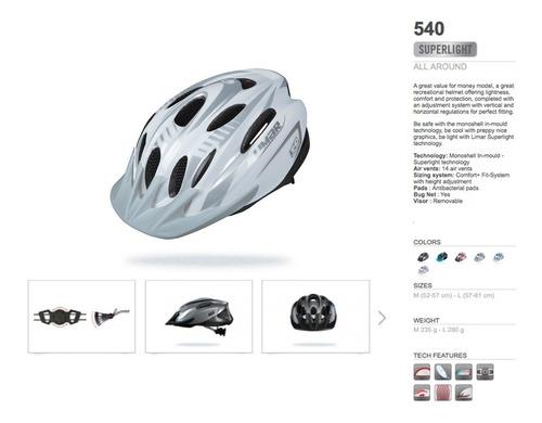 cascos bicicleta limar 540°- white-silver