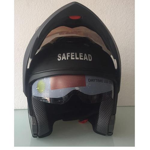 cascos de moto safelead homologado dot  talla m