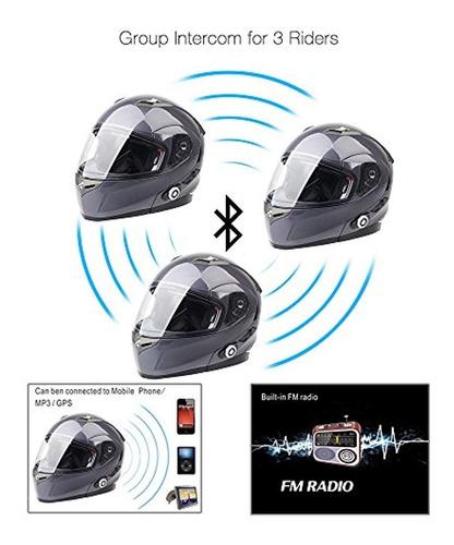 cascos de motocicleta bluetooth altavoces integrados l gris