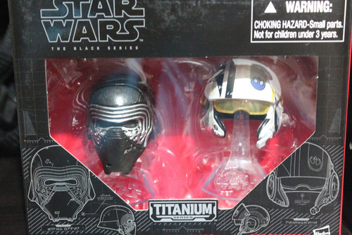 cascos kylo ren y poe black series star wars episodio 7