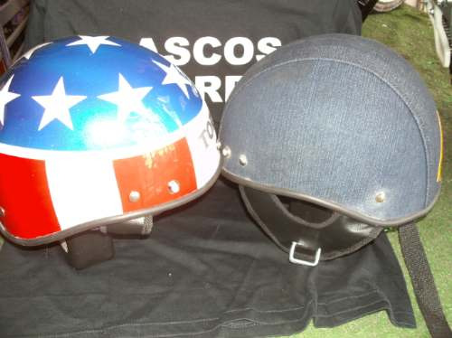 cascos militar y retro. ideal chopper, harley
