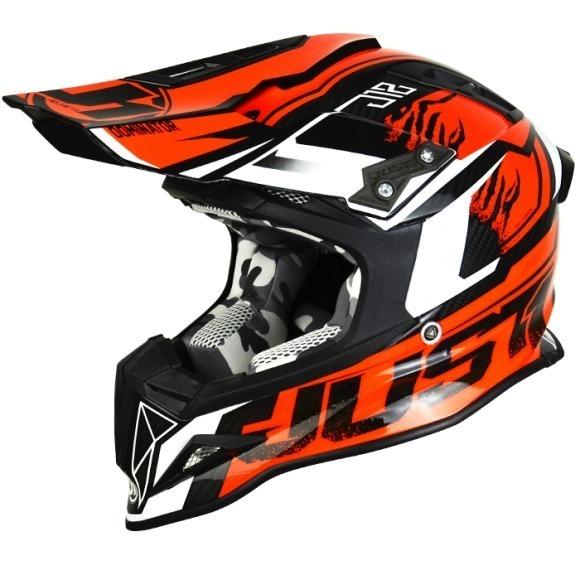 JUST1/casco J12/Dominator Naranja tama/ño 58-M