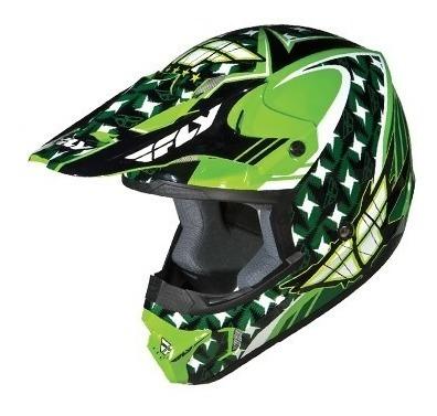 cascos motos motocross kinetic flash - fly racing