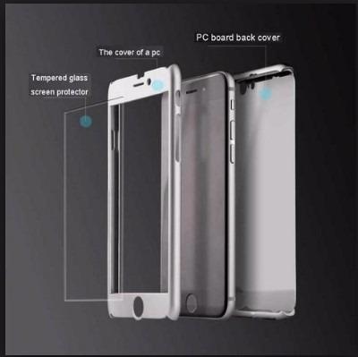 case 360° + vidrio templa iphone 5/5s 6/6s 6pl/6sp 7/7p x 8