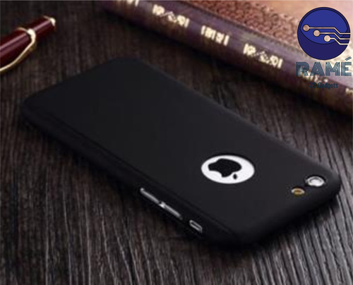 case 360º + vidrio templado para iphone 5, 6 y 6plus - 2017