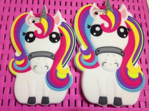 case 3d unicornio iphone 5 6 7 plus sony z5 m5 m4 p8 lite