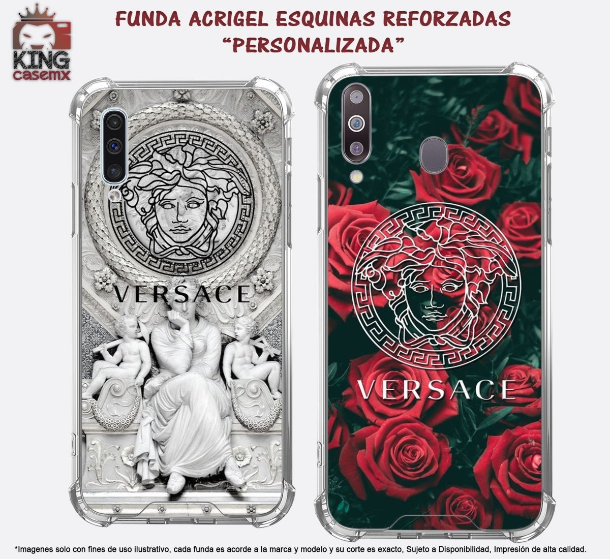 timeless design 02886 1ca0f Case Acrigel Versace Galaxy S5 S6 Edge S7 Edge S8 Plus M10