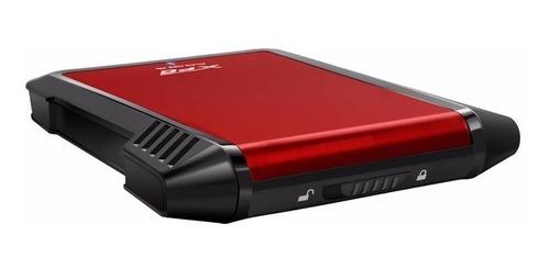 case adata ex500 2.5sata usb 3.0 rojo con negro