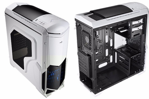 case aerocool battlehawk white and black gamer nuevo