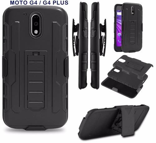 case armor con gancho  moto g3 g4 g4 plus g4 play g5 plus