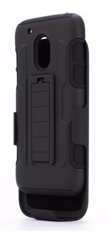 case armor holster motorola moto g4 play xt1607 + stylus
