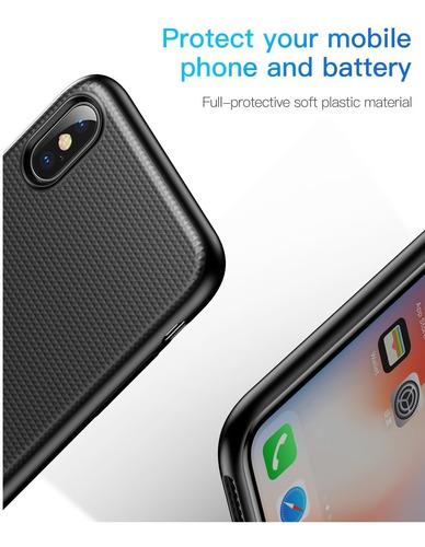 case + batería cargador magnético inálambrico iphone x