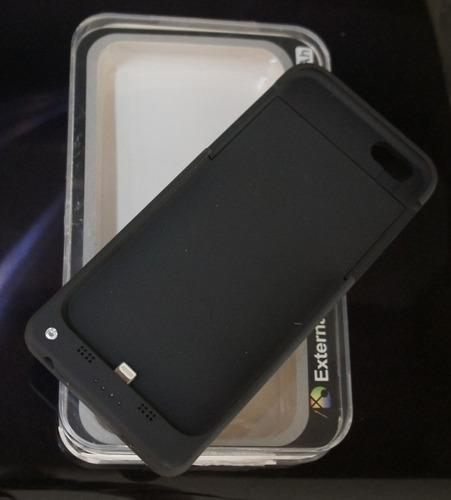 case bateria extra recarregável - iphone 6 - 6.000 mah