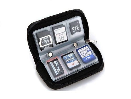 case bolsa capa porta cartão de memória sd, sdhc, micro, cf