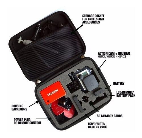 case bolsa gopro hero 5 6 acessorios go pro maleta (média)