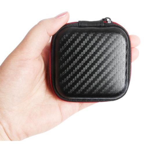 case bolsa quadrada porta cabo/fone de ouvido.