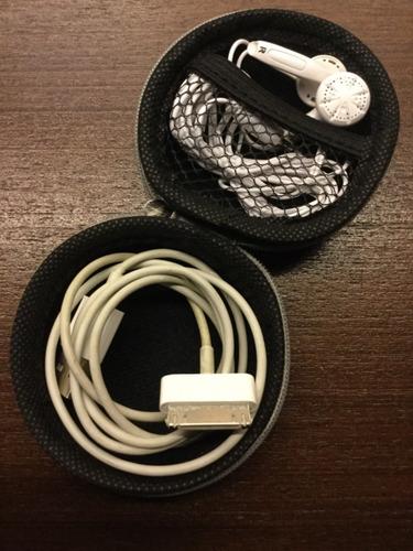 case bolsa redonda porta cabo/fone de ouvido.