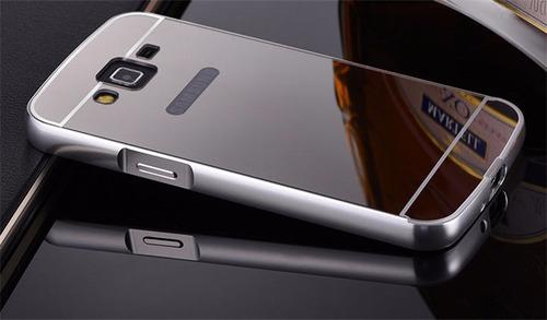 case bumper aluminio espejo galaxy grand prime g530 + stylus