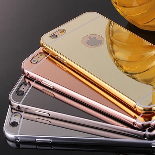 case bumper aluminio espejo huawei p8,p8 lite,mate s,g8,y6