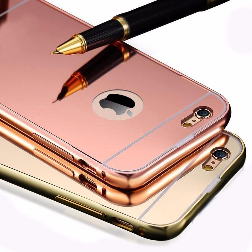 95262f3e3d7 Case Bumper Aluminio Espejo iPhone 4s 5c 5s 6s iPhone 7 Plus - S/ 30 ...